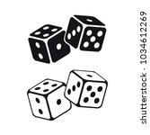 Dice Cubes On White Backgroun...