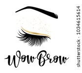 brow studio. vector... | Shutterstock .eps vector #1034615614