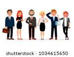 business people standing...   Shutterstock .eps vector #1034615650