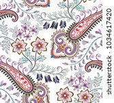 seamless pattern with... | Shutterstock .eps vector #1034617420