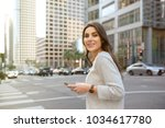 beautiful young woman on the...   Shutterstock . vector #1034617780