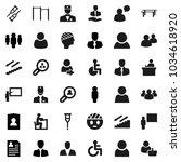 flat vector icon set  ... | Shutterstock .eps vector #1034618920