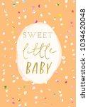 sweet little baby shower card | Shutterstock . vector #1034620048