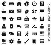 flat vector icon set   pen... | Shutterstock .eps vector #1034620540
