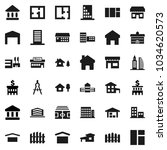 flat vector icon set  ... | Shutterstock .eps vector #1034620573