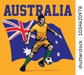 soccer player of australia | Shutterstock .eps vector #1034620978