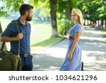 love at first sight concept.... | Shutterstock . vector #1034621296