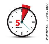 five minutes clock icon... | Shutterstock .eps vector #1034621800