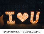 decoration of letters with... | Shutterstock . vector #1034622343