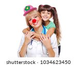 Funny Doctor Wearing Clown...