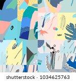 creative universal artistic... | Shutterstock .eps vector #1034625763
