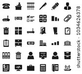 flat vector icon set   trash... | Shutterstock .eps vector #1034626378