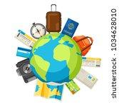 travel concept illustration.... | Shutterstock .eps vector #1034628010