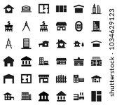 flat vector icon set  ... | Shutterstock .eps vector #1034629123