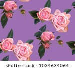 floral seamless background... | Shutterstock .eps vector #1034634064