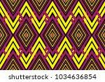 geometric ethnic pattern... | Shutterstock .eps vector #1034636854