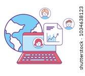 isolated laptop design   Shutterstock .eps vector #1034638123