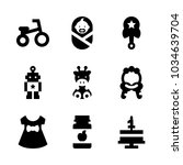 icons baby with robot  rattle ... | Shutterstock .eps vector #1034639704