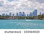 miami skyline | Shutterstock . vector #103464020