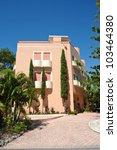 Large Luxurious  Beach House - stock photo
