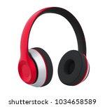 headphones isolated. 3d... | Shutterstock . vector #1034658589