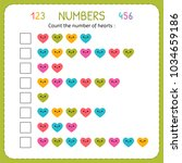 count the number of hearts....   Shutterstock .eps vector #1034659186