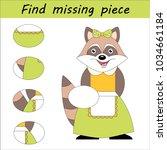worksheet for children. visual... | Shutterstock .eps vector #1034661184