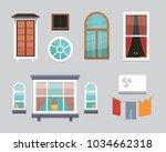 different interior windows of... | Shutterstock . vector #1034662318
