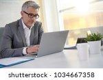 businessman in office working...   Shutterstock . vector #1034667358