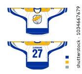 hockey uniform   pattern... | Shutterstock .eps vector #1034667679
