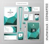 corporate identity template... | Shutterstock .eps vector #1034669503