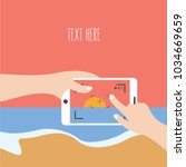 hands hold make   take a video  ...   Shutterstock .eps vector #1034669659