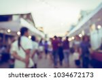 vintage tone blurred defocused... | Shutterstock . vector #1034672173