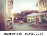 vintage tone blurred defocused... | Shutterstock . vector #1034672263