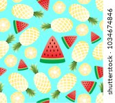 vector seamless pattern with... | Shutterstock .eps vector #1034674846