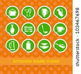 symbols of kitchen ware on... | Shutterstock .eps vector #103467698