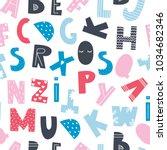 scandinavian style alphabet.... | Shutterstock .eps vector #1034682346