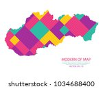 colorful square texture map of...   Shutterstock .eps vector #1034688400