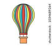 hot air balloon line colorful... | Shutterstock .eps vector #1034689264
