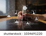 microchip  cpu  processor ... | Shutterstock . vector #1034691220