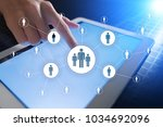 human resource management  hr ... | Shutterstock . vector #1034692096