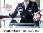 organisation structure chart ... | Shutterstock . vector #1034692153