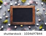 easter background with mini...   Shutterstock . vector #1034697844