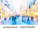 crowd of anonymous people...   Shutterstock . vector #1034700496