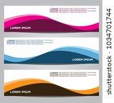 vector design banner... | Shutterstock .eps vector #1034701744