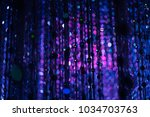 led light as the star in the... | Shutterstock . vector #1034703763