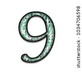 green paint splattered number... | Shutterstock . vector #1034706598