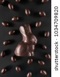 delicious chocolate easter... | Shutterstock . vector #1034709820