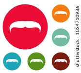 villainous mustache icons... | Shutterstock .eps vector #1034710936