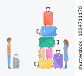 funny vacation or holiday.... | Shutterstock .eps vector #1034711170